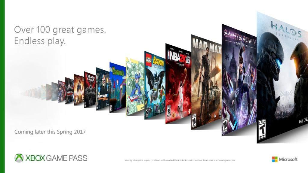 Microsoft анонсировала новый игровой сервис Xbox Game Pass